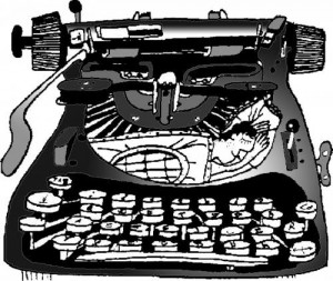 писател в пишеща машина